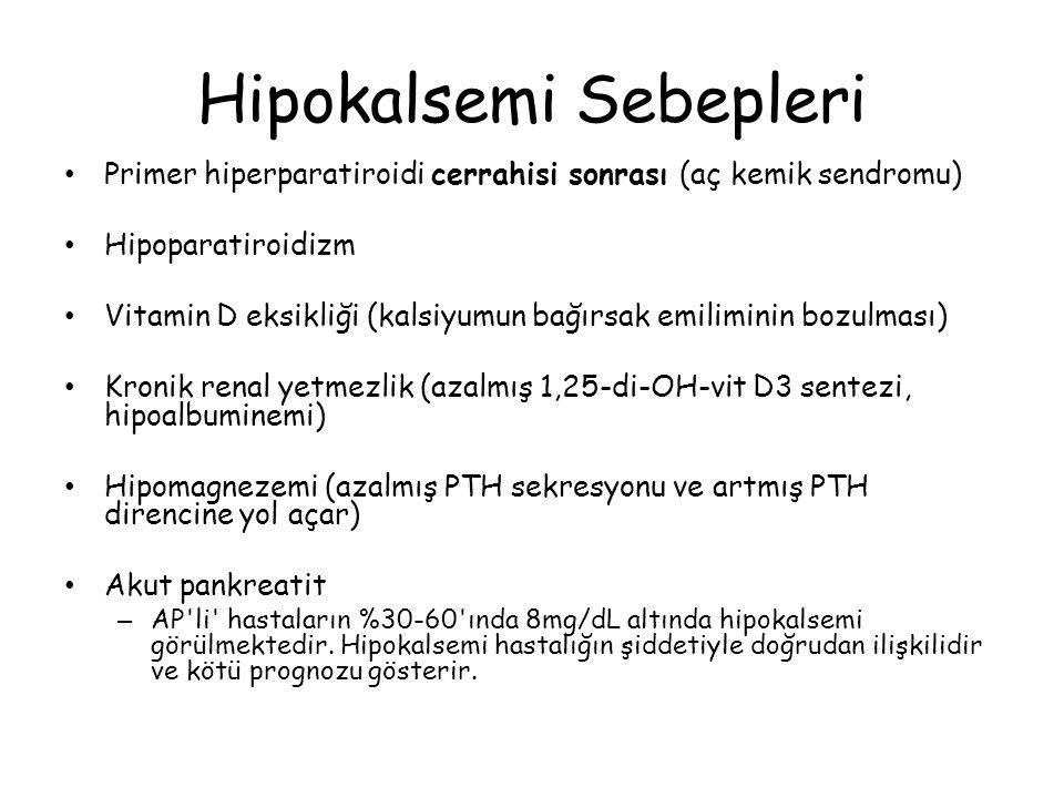 Hipokalsemi Sebepleri