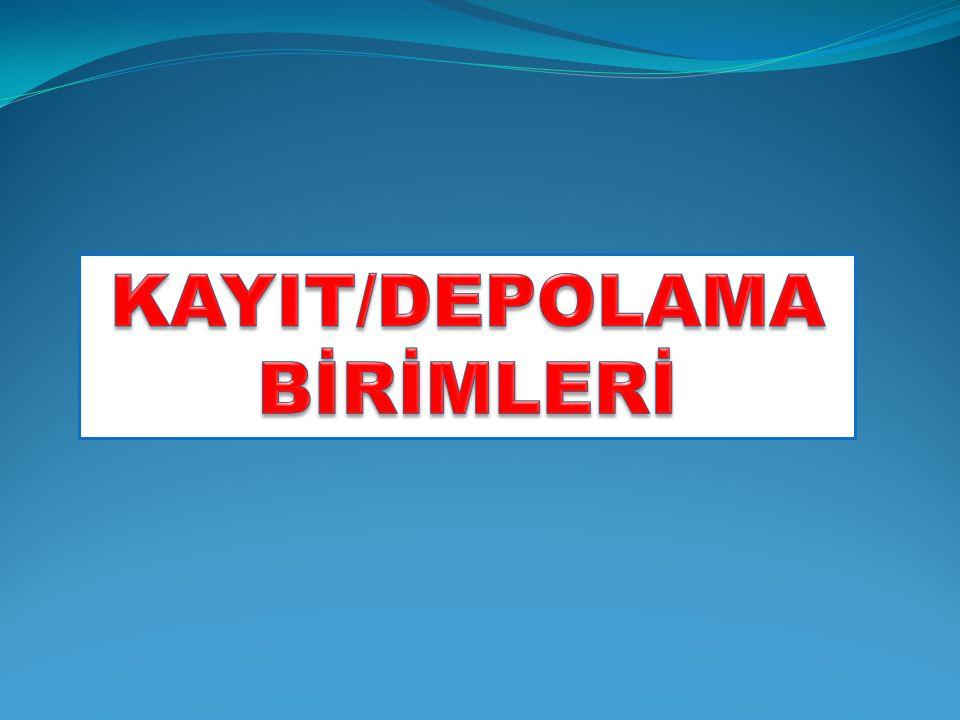 KAYIT/DEPOLAMA BİRİMLERİ