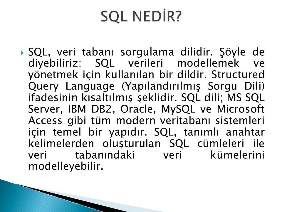 SQL NEDİR