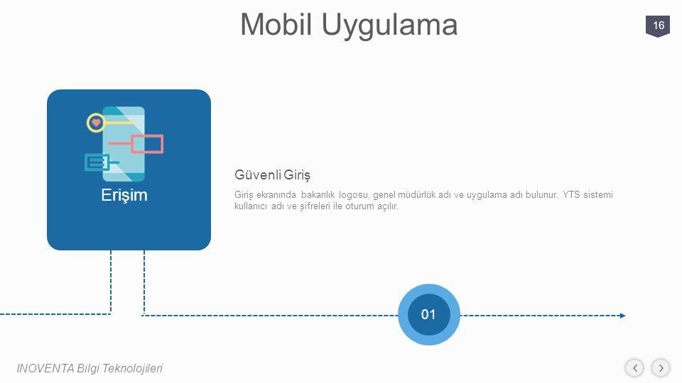 Mobil Uygulama Erişim Güvenli Giriş 01 INOVENTA Bilgi Teknolojileri