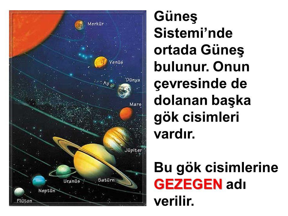 Güneş Sistemi'nde ortada Güneş bulunur