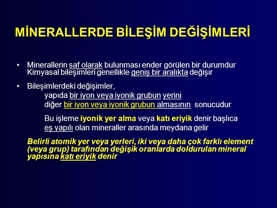 MİNERALLERDE BİLEŞİM DEĞİŞİMLERİ
