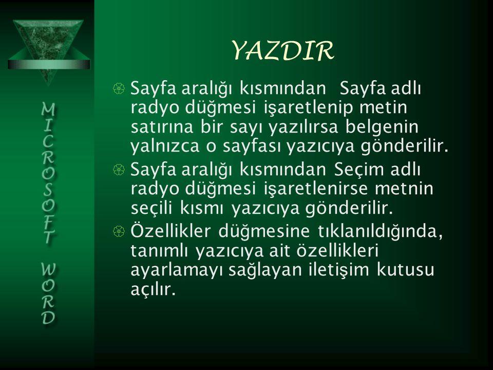 YAZDIR