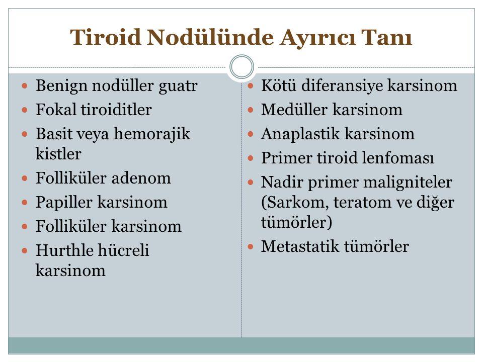 Tiroid Nodülünde Ayırıcı Tanı