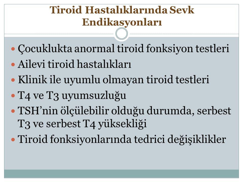 Tiroid Hastalıklarında Sevk Endikasyonları