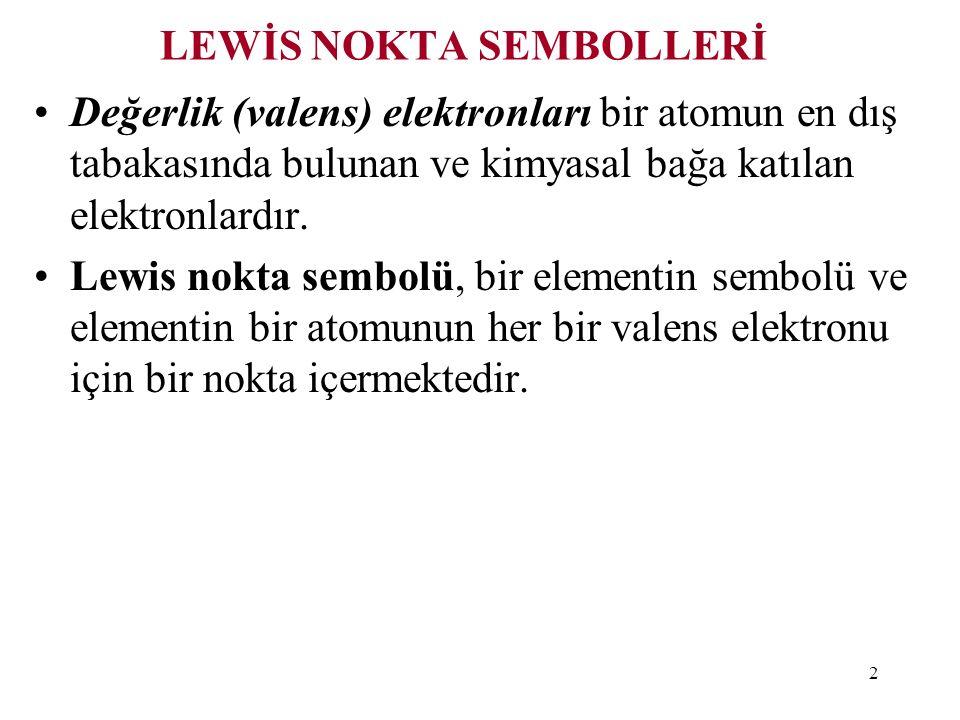 LEWİS NOKTA SEMBOLLERİ