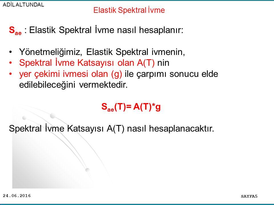 Sae : Elastik Spektral İvme nasıl hesaplanır: