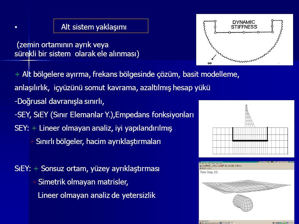 Alt sistem yaklaşımı (zemin ortamının ayrık veya. sürekli bir sistem olarak ele alınması)