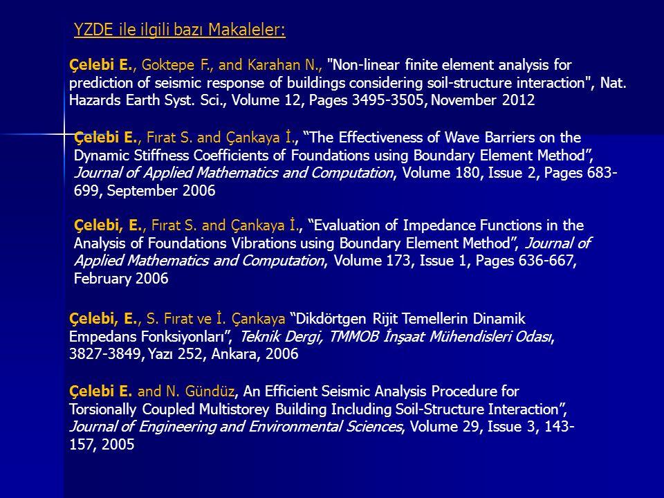 YZDE ile ilgili bazı Makaleler: