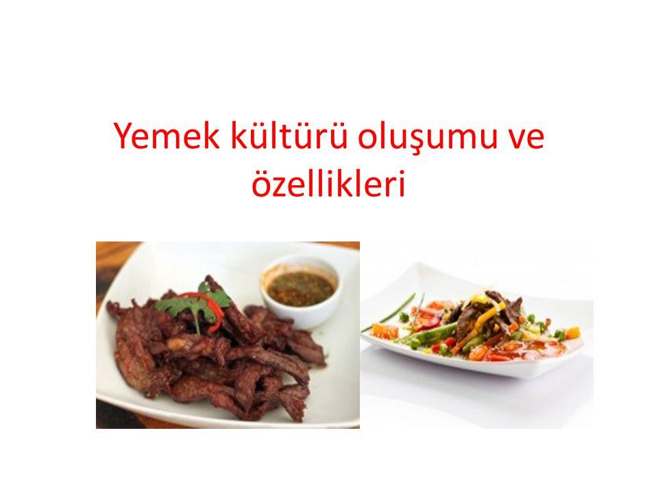 Yemek kültürü oluşumu ve özellikleri