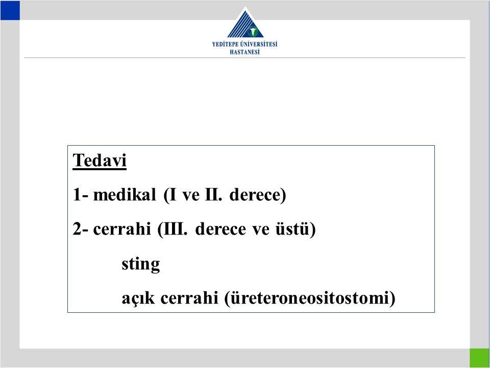 Tedavi 1- medikal (I ve II. derece) 2- cerrahi (III.