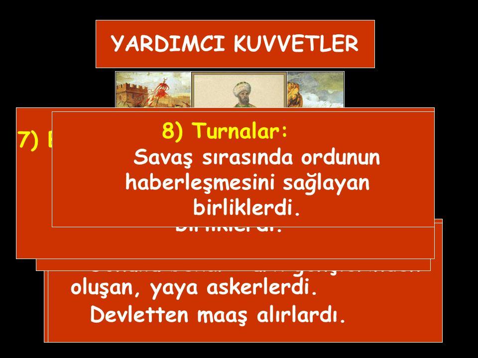 7) Bağlı Beyliklerin Gönderdiği Askerler: Kırım, Eflak, Boğdan gibi