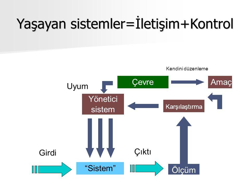 Yaşayan sistemler=İletişim+Kontrol