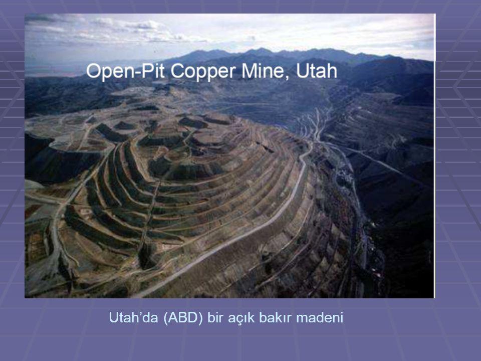 Utah'da (ABD) bir açık bakır madeni