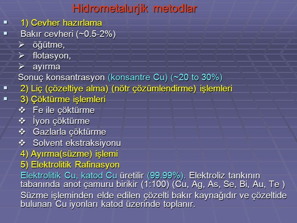 Hidrometalurjik metodlar