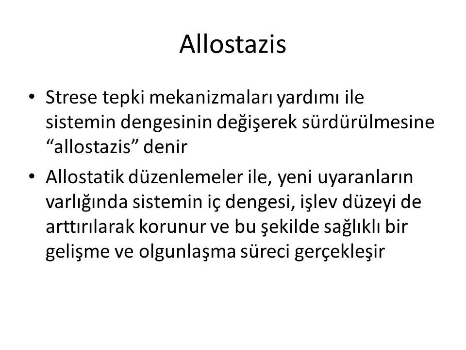 Allostazis Strese tepki mekanizmaları yardımı ile sistemin dengesinin değişerek sürdürülmesine allostazis denir.