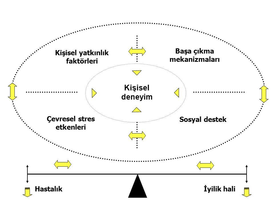 Kişisel deneyim Başa çıkma mekanizmaları Kişisel yatkınlık faktörleri