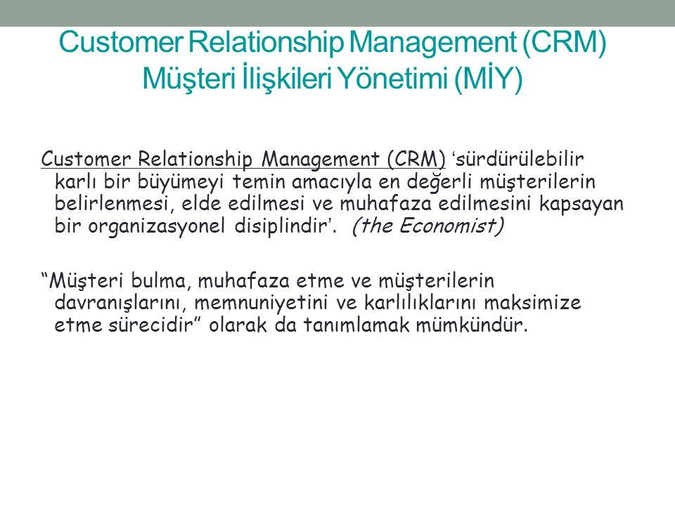 Customer Relationship Management (CRM) Müşteri İlişkileri Yönetimi (MİY)