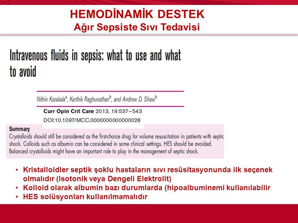 Ağır Sepsiste Sıvı Tedavisi
