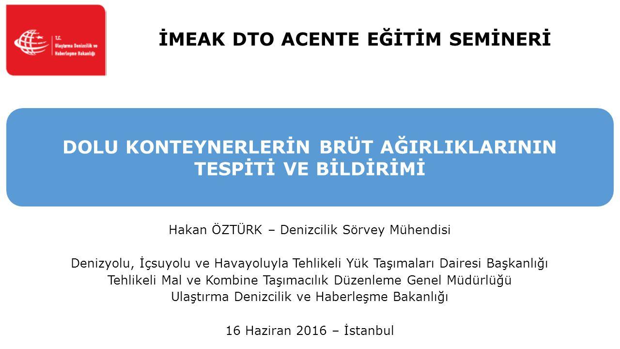 İMEAK DTO ACENTE EĞİTİM SEMİNERİ