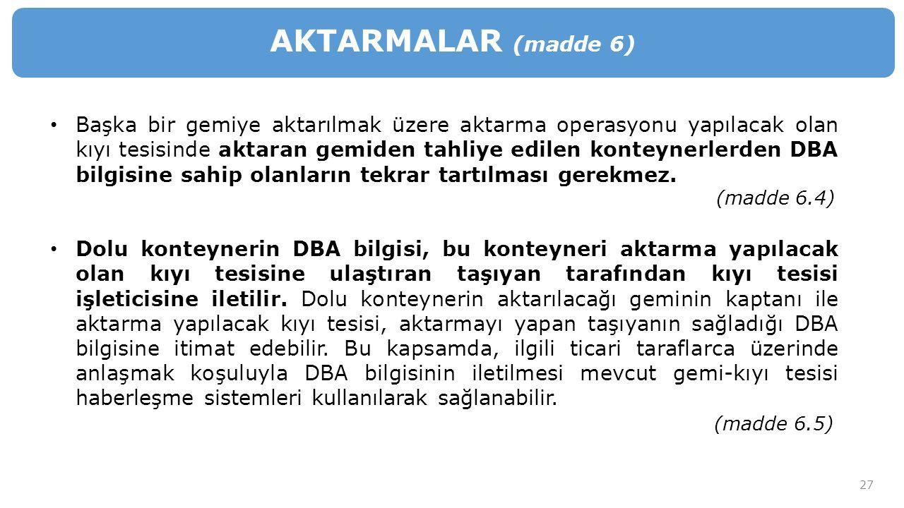 AKTARMALAR (madde 6)