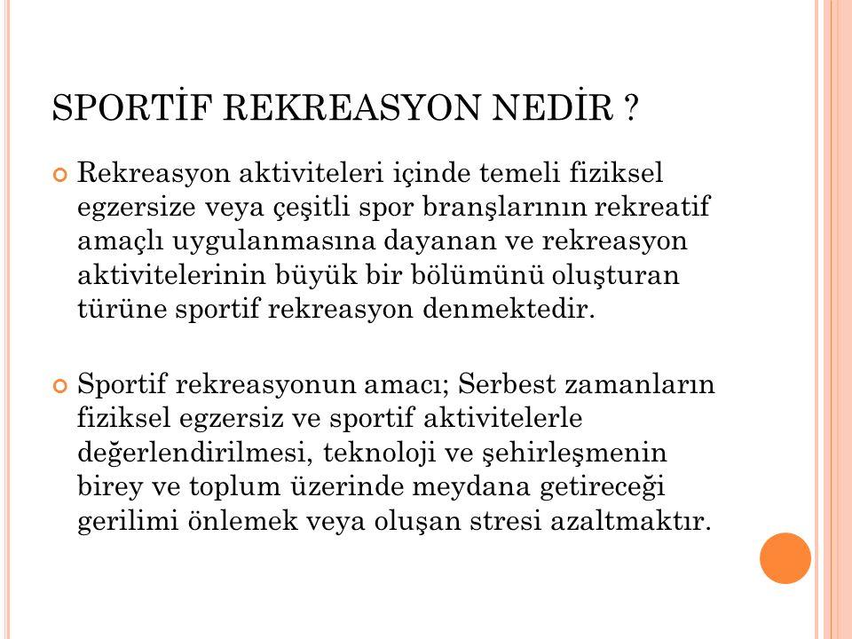 SPORTİF REKREASYON NEDİR