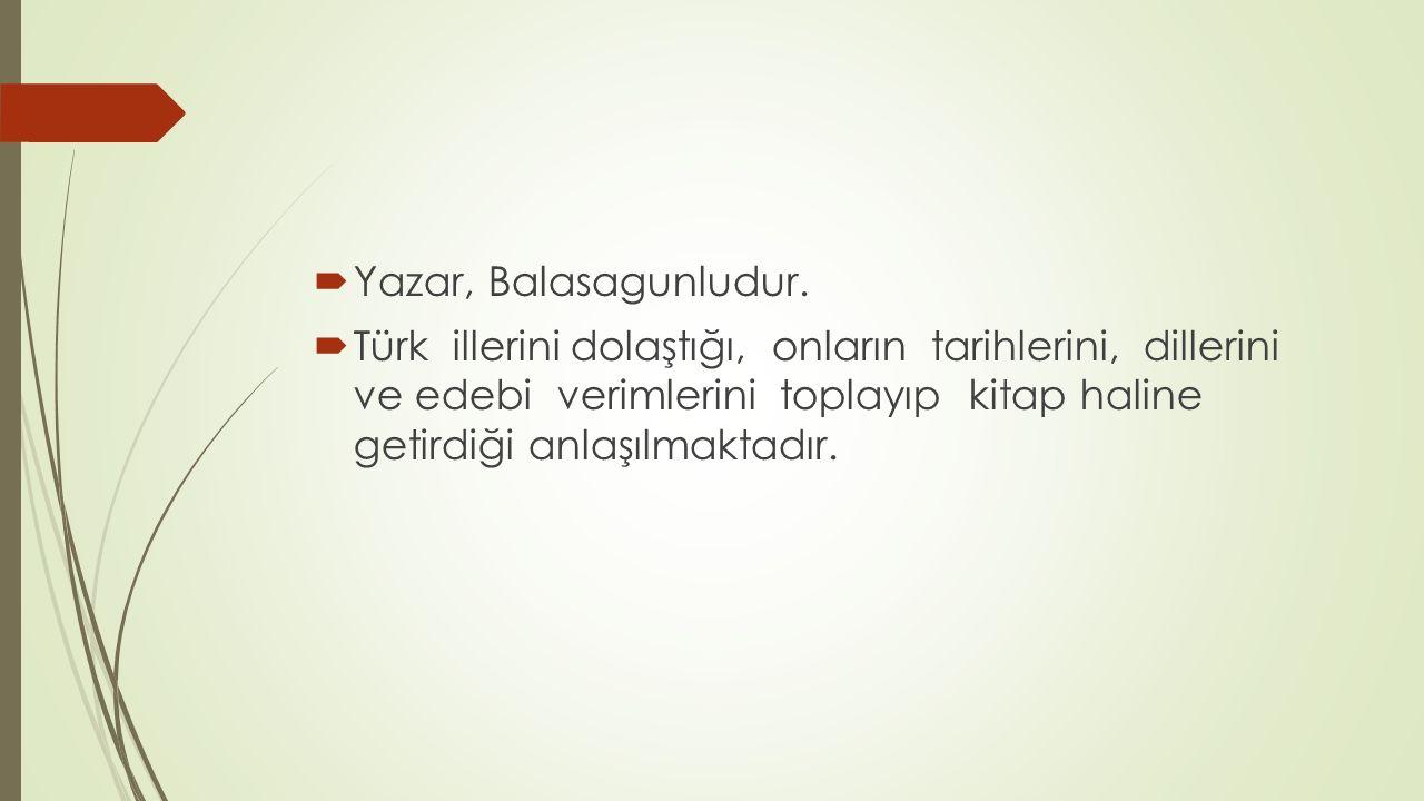 Yazar, Balasagunludur.