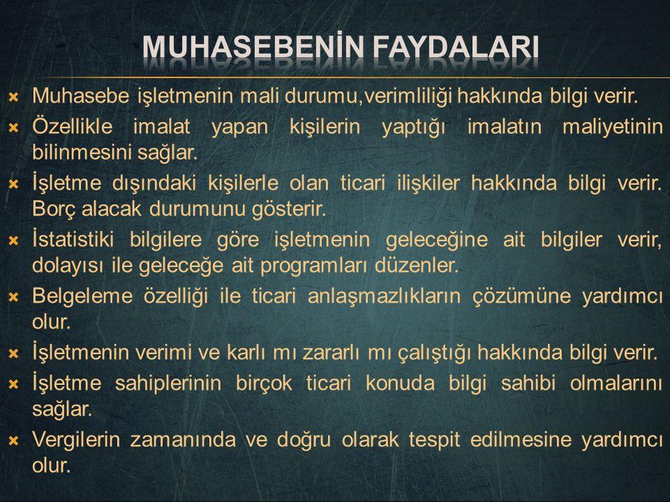 Muhasebenİn FaydalarI