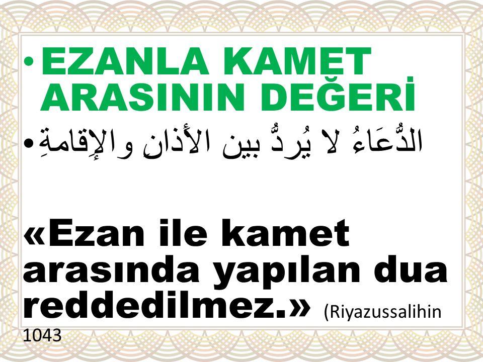 EZANLA KAMET ARASININ DEĞERİ