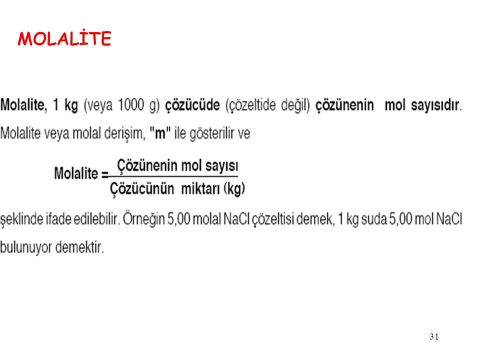 MOLALİTE