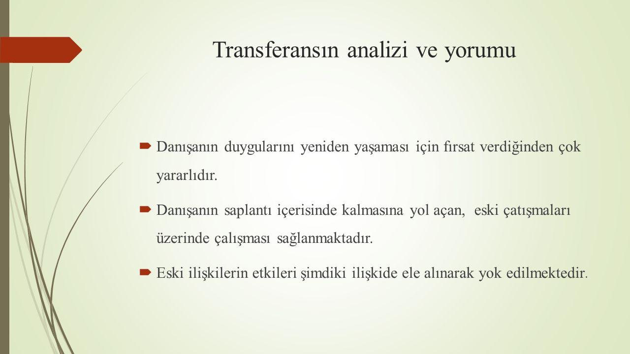 Transferansın analizi ve yorumu