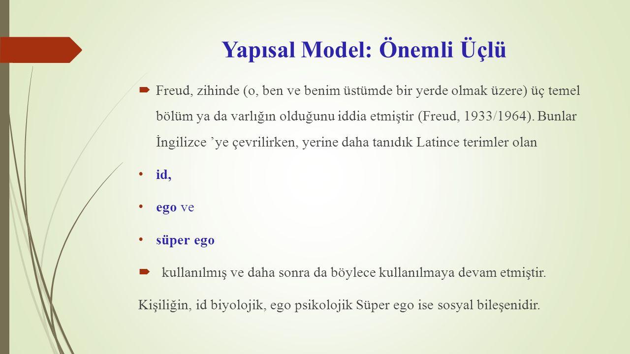Yapısal Model: Önemli Üçlü