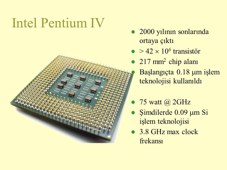 Intel Pentium IV 2000 yılının sonlarında ortaya çıktı