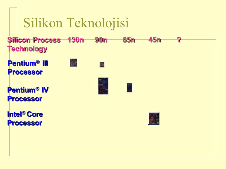 Silikon Teknolojisi Pentium® III Processor 130n 90n 65n