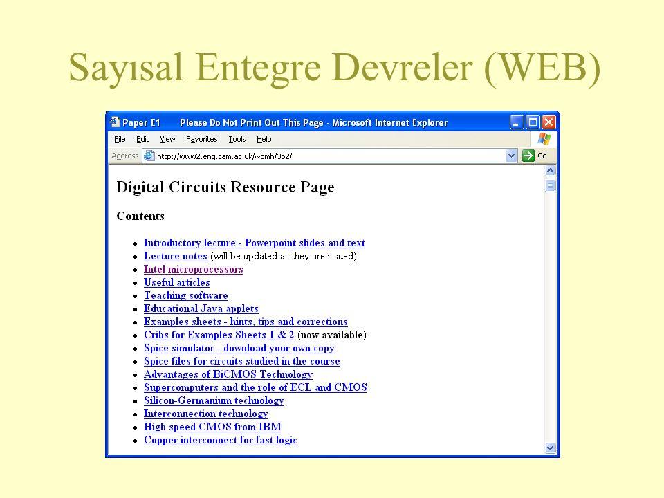 Sayısal Entegre Devreler (WEB)