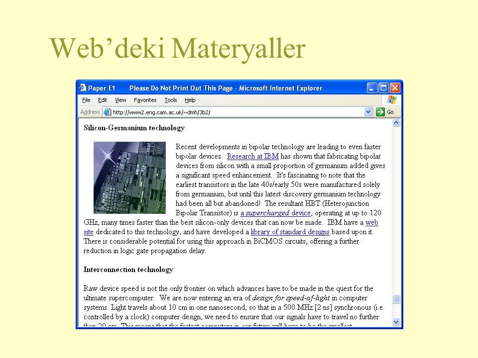 Web'deki Materyaller 2 2 2