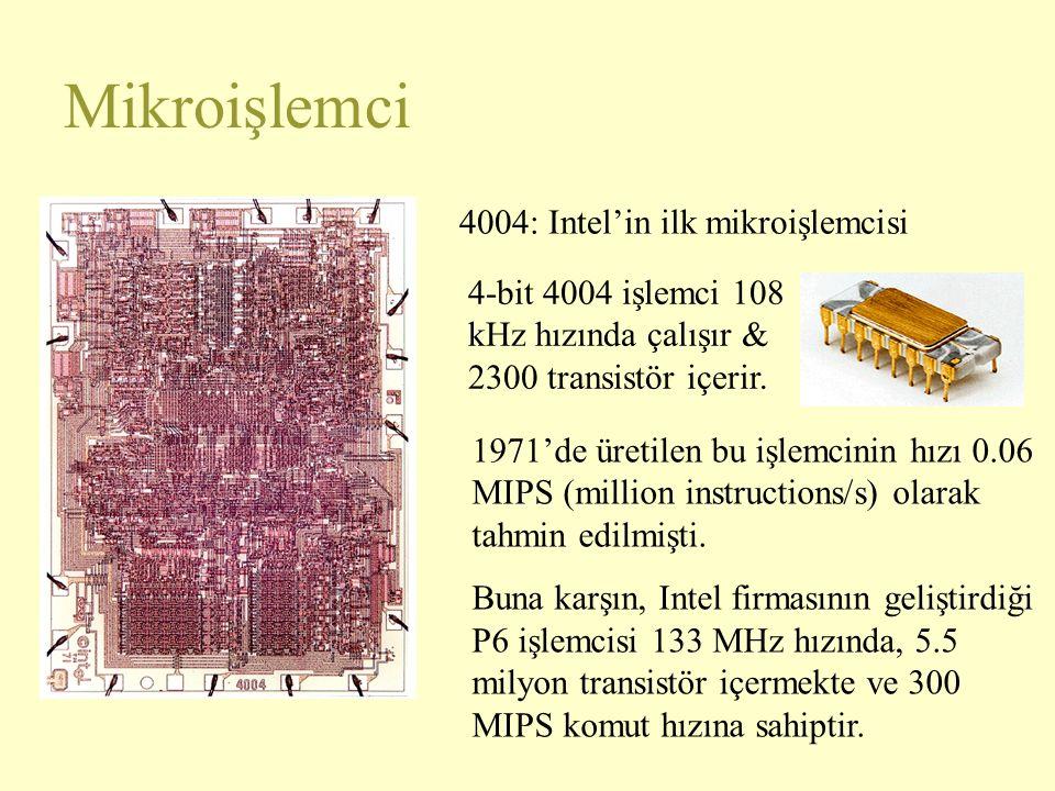 Mikroişlemci 4004: Intel'in ilk mikroişlemcisi