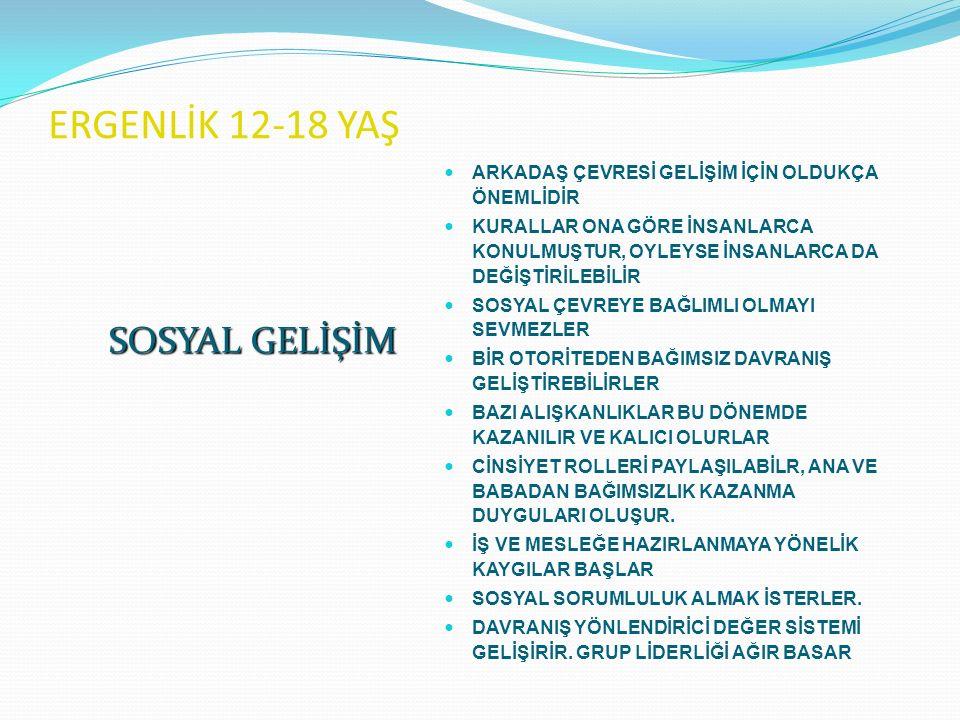 ERGENLİK 12-18 YAŞ SOSYAL GELİŞİM