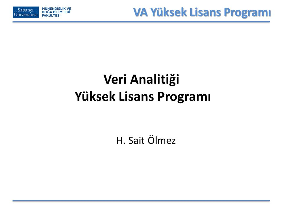 VA Yüksek Lisans Programı