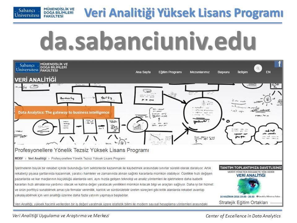 Veri Analitiği Yüksek Lisans Programı