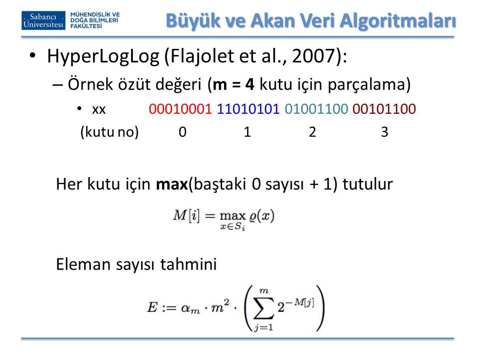 Büyük ve Akan Veri Algoritmaları