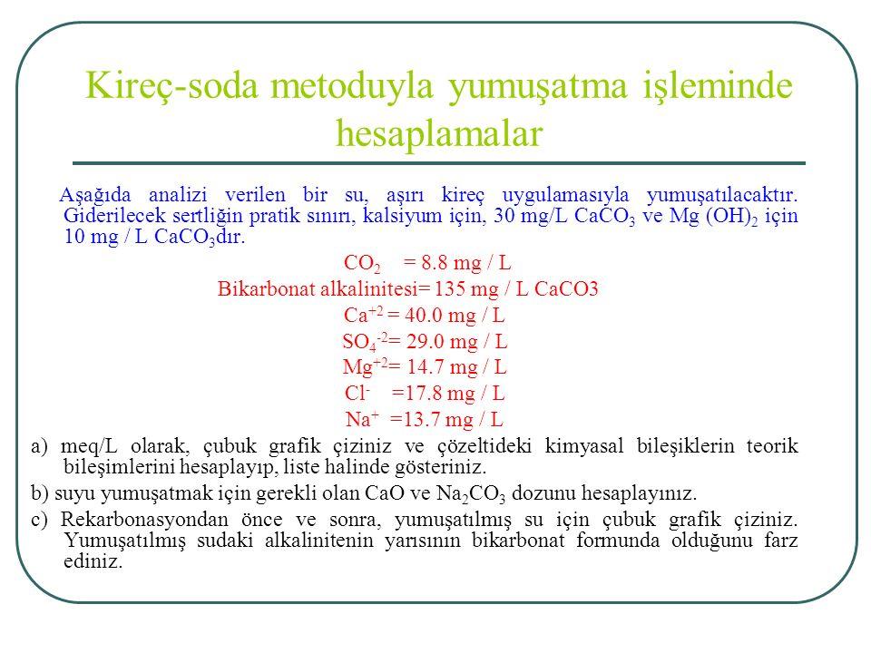 Kireç-soda metoduyla yumuşatma işleminde hesaplamalar