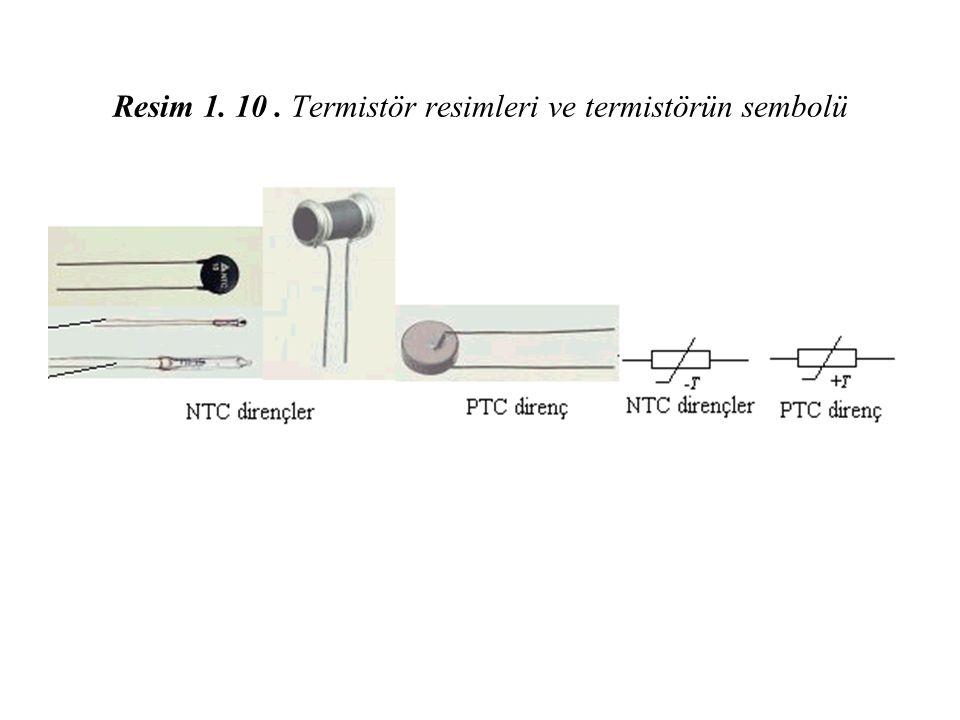 Resim 1. 10 . Termistör resimleri ve termistörün sembolü