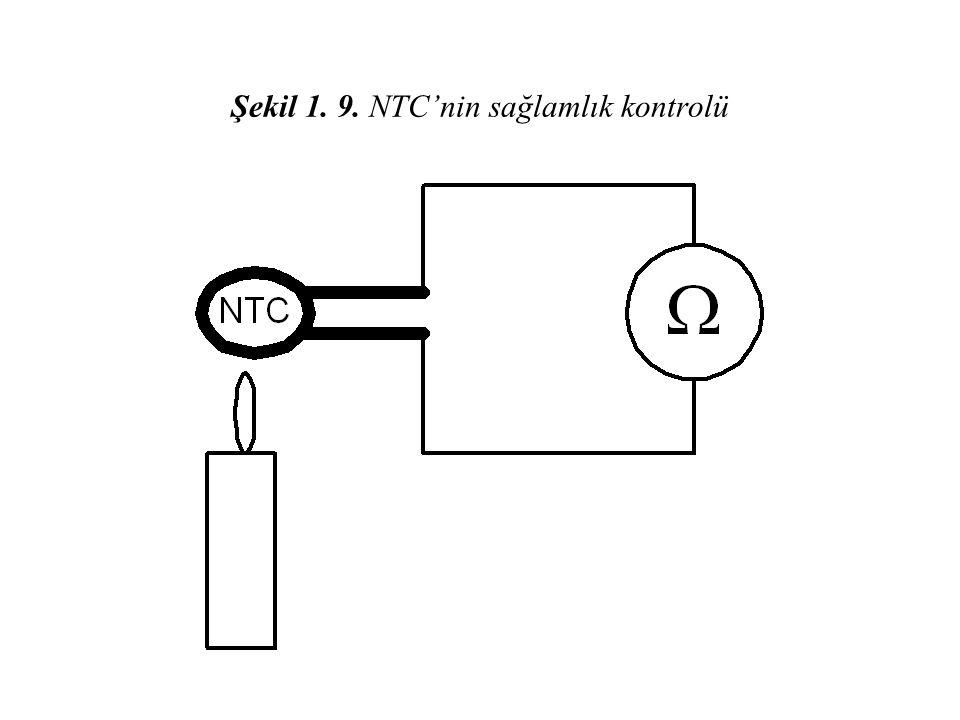 Şekil 1. 9. NTC'nin sağlamlık kontrolü