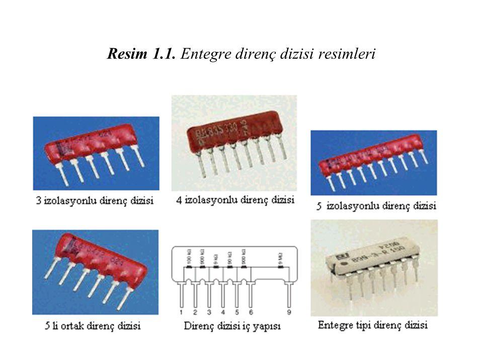 Resim 1.1. Entegre direnç dizisi resimleri