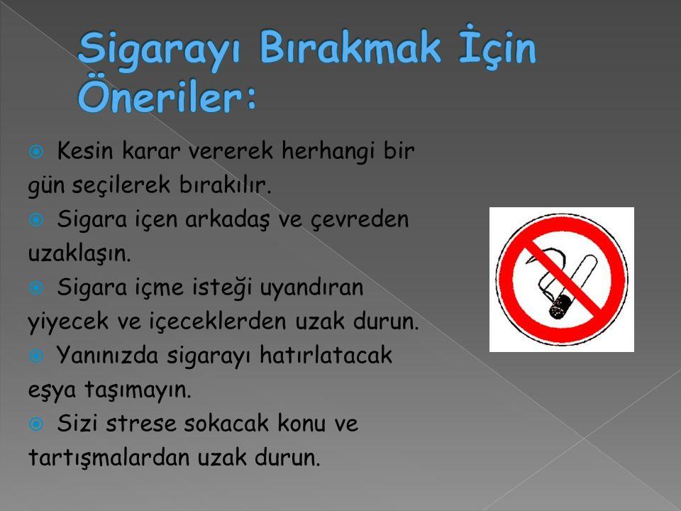 Sigarayı Bırakmak İçin Öneriler: