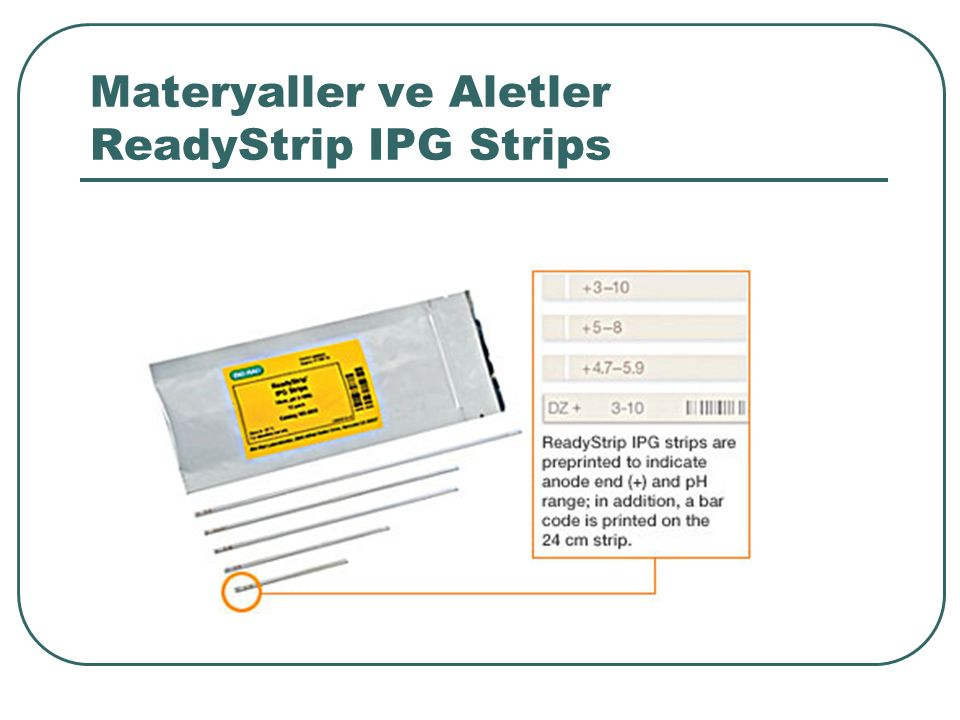 Materyaller ve Aletler ReadyStrip IPG Strips