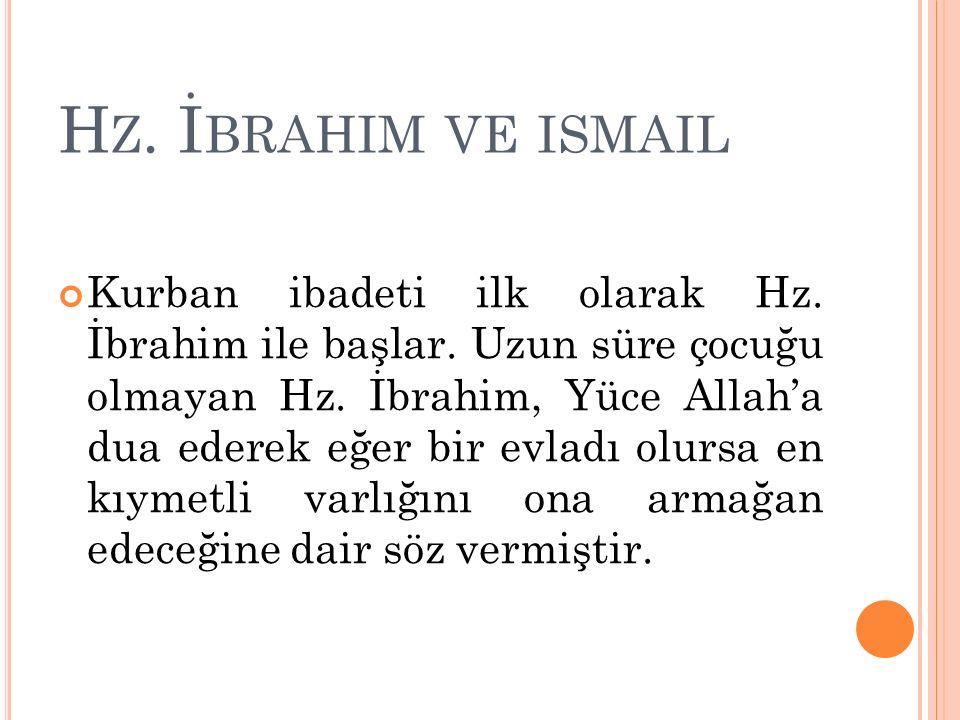 Hz. İbrahim ve ismail