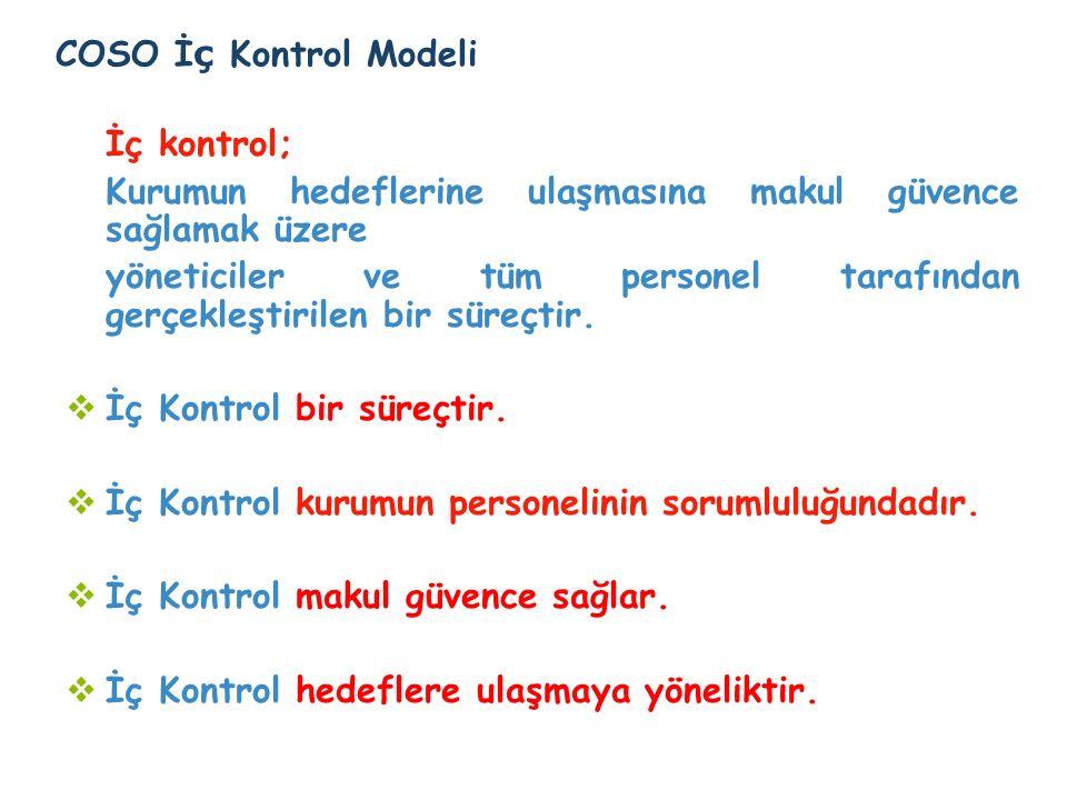 İç kontrol; COSO İç Kontrol Modeli