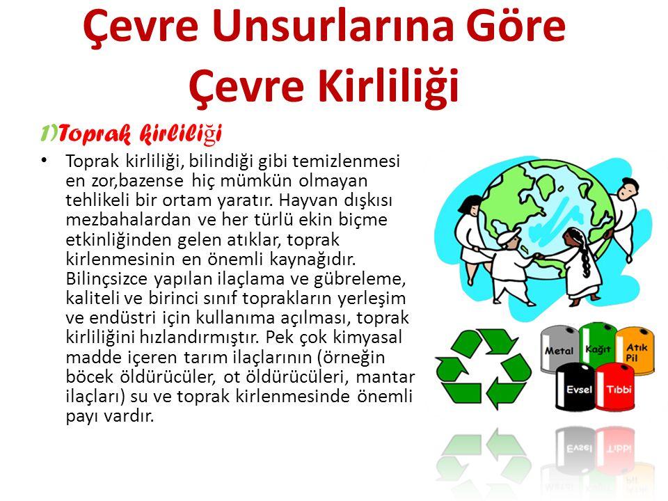 Çevre Unsurlarına Göre Çevre Kirliliği